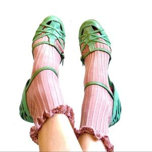 Vintage Mint Green Strappy Shoes